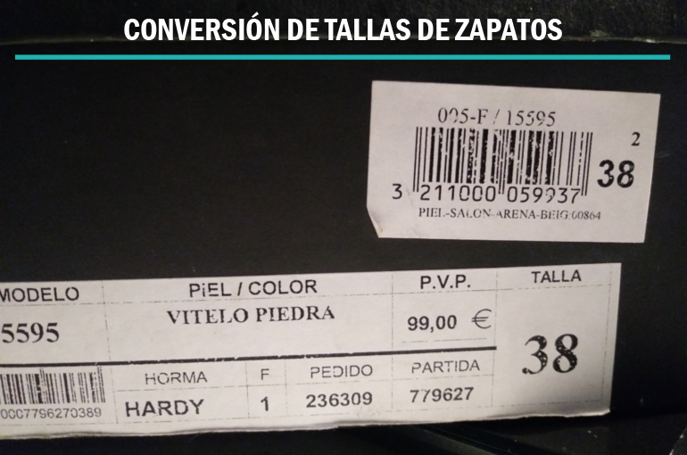 a8a557df465 CONVERSIÓN DE TALLAS DE ZAPATOS - Gema Vicedo