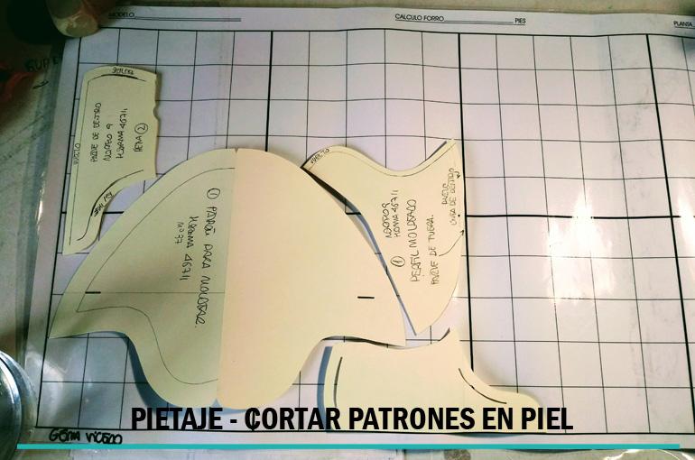 PIETAJE – Cortar en piel zapatos y otros productos.