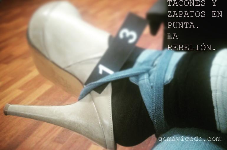 Tacones y zapatos en punta