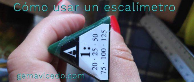 cómo medir con un escalímetro